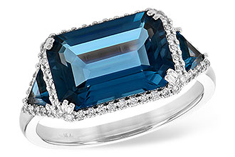 A226-56953: LDS RG 4.60 TW LONDON BLUE TOPAZ 4.82 TGW