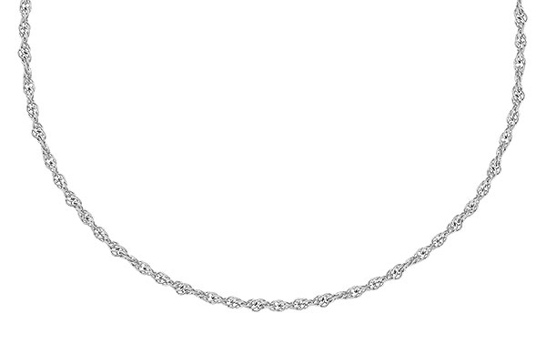 A309-34199: 1.5MM 14KT 18IN GOLD ROPE CHAIN WITH LOBSTER CLASP