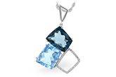 B224-79671: NECK 10.60 BLUE TOPAZ 10.73 TGW