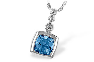 B225-68771: NECK 1.45 BLUE TOPAZ 1.49 TGW