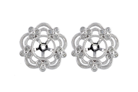 C222-04271: EARRING JACKETS .16 TW (FOR 0.50-1.00 CT TW STUDS)