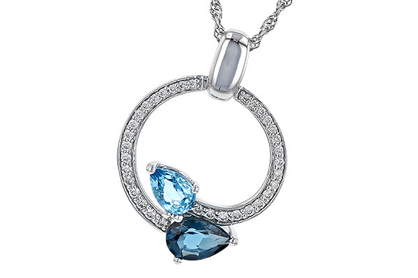D226-61498: NECK 1.22 BLUE TOPAZ 1.40 TGW
