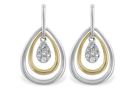 E220-22453: EARRINGS .06 TW