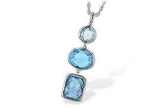 E225-65153: NECK 7.85 BLUE TOPAZ TW