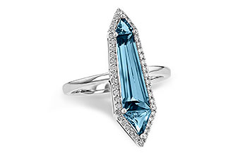 E226-56044: LDS RG 2.20 LONDON BLUE TOPAZ 2.41 TGW