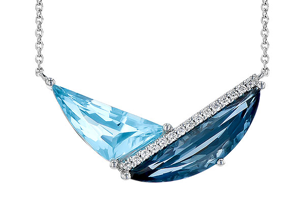 E309-30607: NECK 4.66 BLUE TOPAZ 4.75 TGW