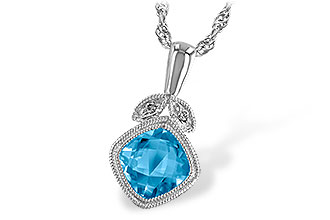 F222-97862: NECK 1.05 BLUE TOPAZ 1.06 TGW