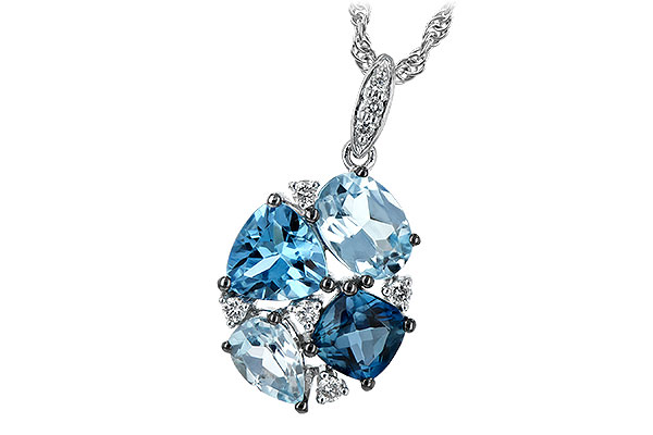 H225-65098: NECK 2.60 BLUE TOPAZ 2.70 TGW
