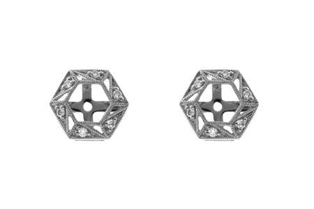 L036-63289: EARRING JACKETS .08 TW (FOR 0.50-1.00 CT TW STUDS)