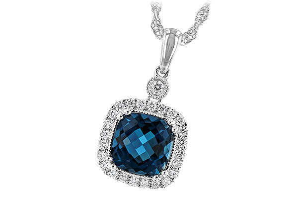 M225-65098: NECK 1.63 LONDON BLUE TOPAZ 1.80 TGW