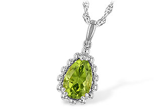 M225-67898: NECKLACE 1.30 CT PERIDOT