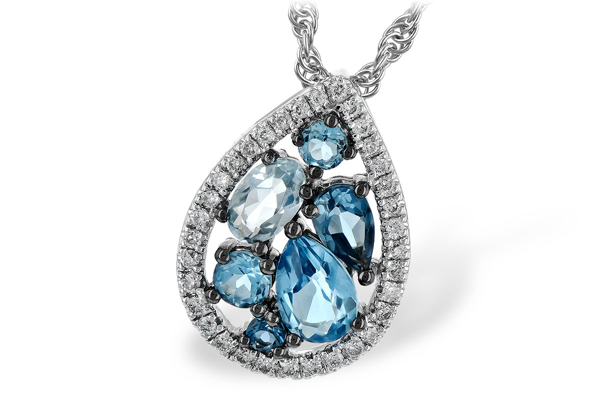 M225-70552: NECK 1.15 BLUE TOPAZ 1.30 TGW